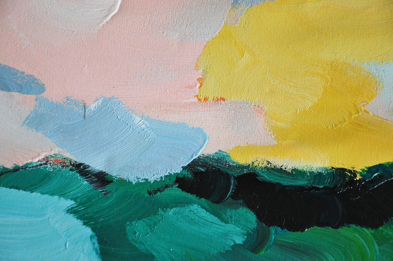 Oversized Abstract Art,Artwork For Sale,Blue,Green,Pink,Yellow
