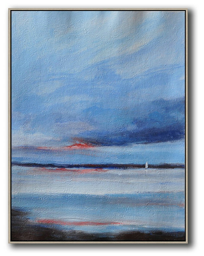 Oversized Abstract Landscape Painting Acrylic Painting
