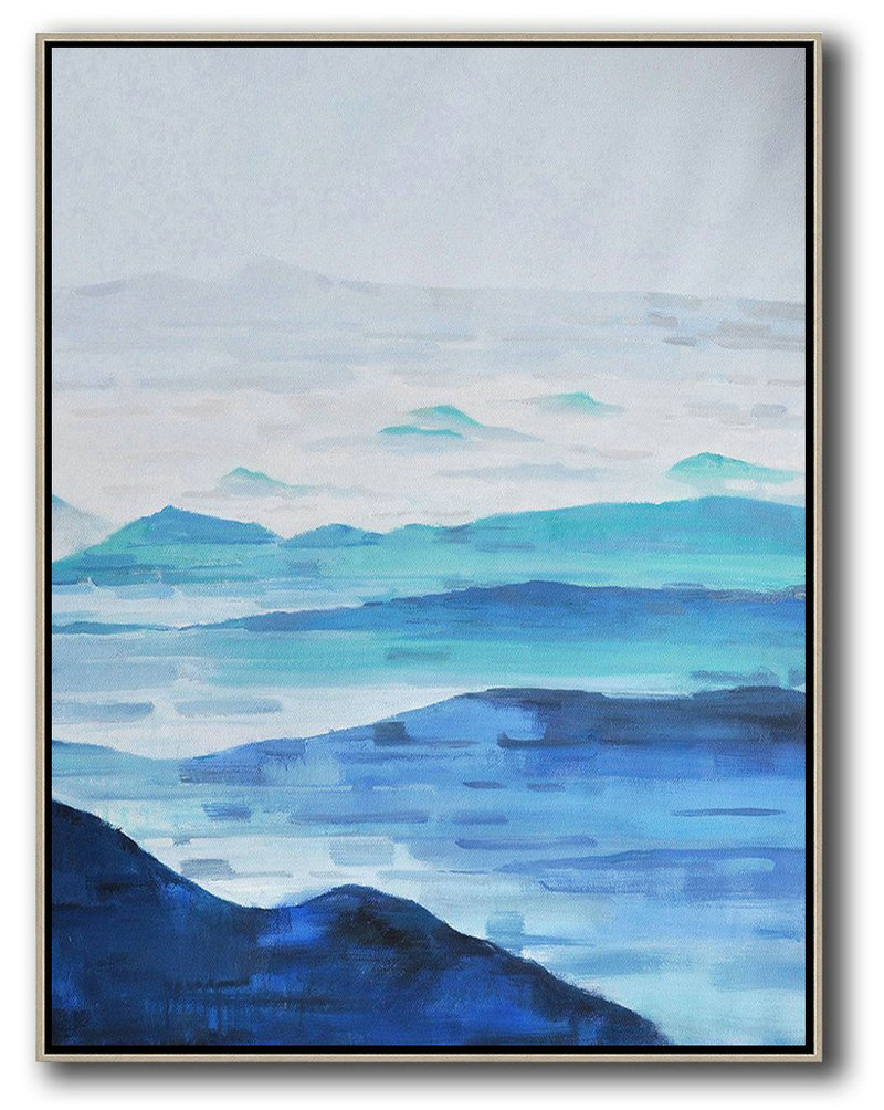 Oversized Abstract Landscape Painting Hand Paint Abstract