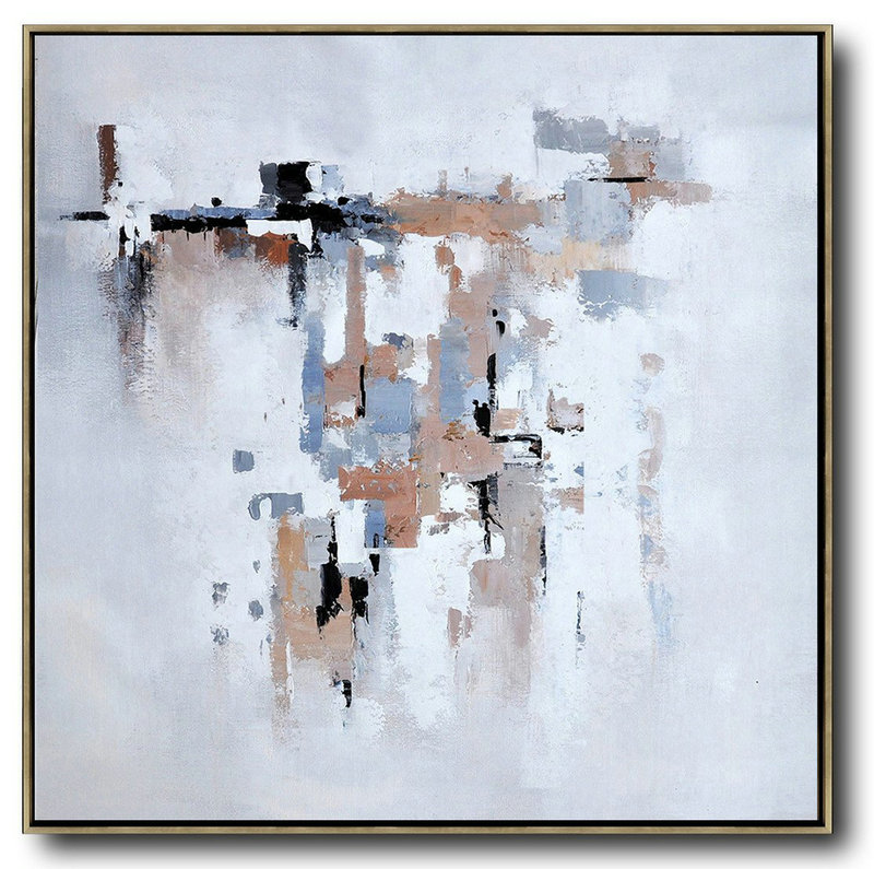 Oversized Contemporary Art,Extra Large Wall Art,Taupe,Grey,White,Black