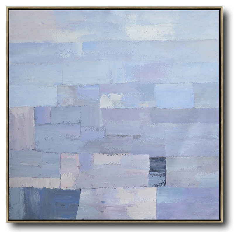 Oversized Contemporary Art,Large Canvas Art,Modern Art Abstract Painting,Violet Ash,Grey,Blue