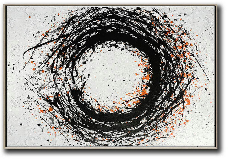 Hand-Painted Oversized Horizontal Minimal Art,Abstract Artwork Online #F9F1