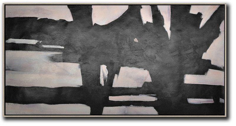 Hand-Painted Oversized Horizontal Minimal Art,Home Decor Canvas #S2I5
