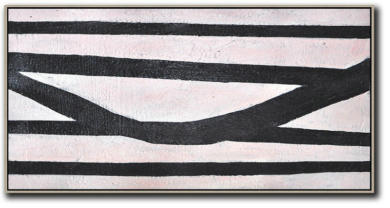 Hand-Painted Oversized Horizontal Minimal Art,Huge Wall Decor #R9O2