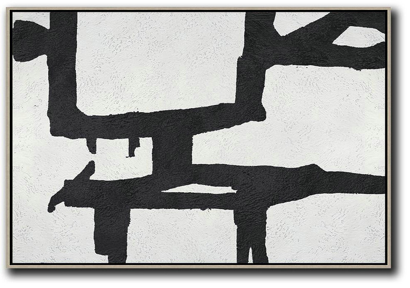 Oversized Horizontal Minimal Art On Canvas,Huge Abstract Canvas Art #Q5F0