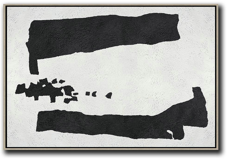 Oversized Horizontal Minimal Art On Canvas,Hand Paint Large Clean Modern Art #Q4S7