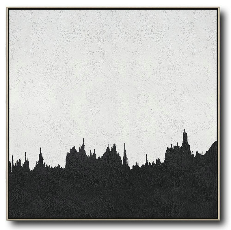 Oversized Minimal Painting On Canvas,Contemporary Canvas Paintings #B9A6