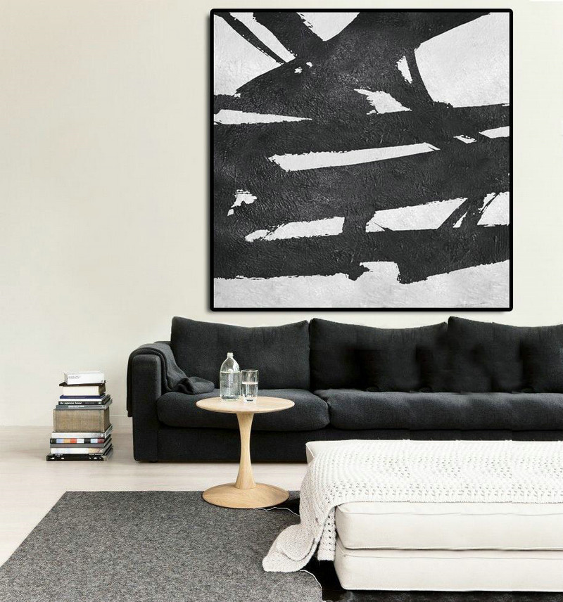 Oversized Minimal Painting On Canvas,Modern Canvas Art #J8O9