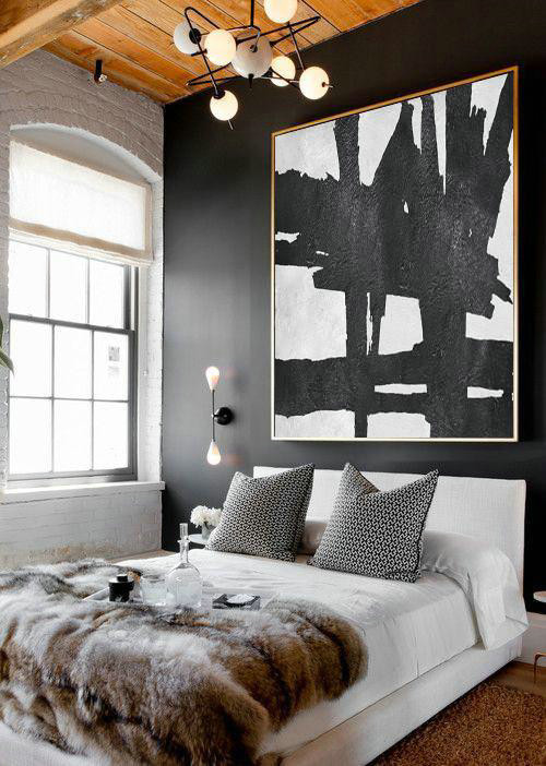 Oversized Minimal Painting On Canvas,Contemporary Art Acrylic Painting #F4W2
