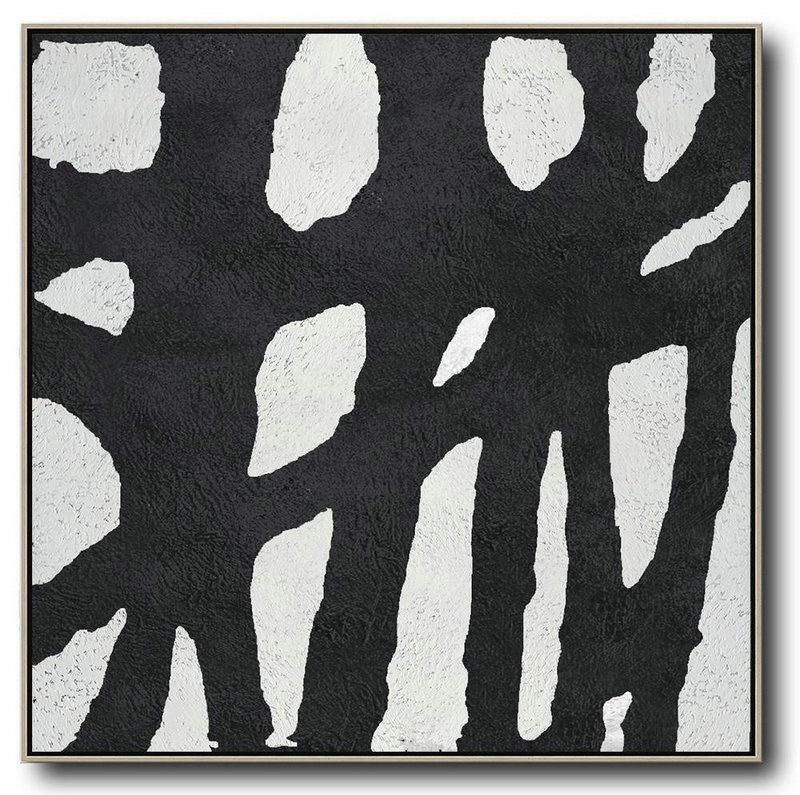 Oversized Minimal Black And White Painting,Abstract Painting Modern Art #R1R7