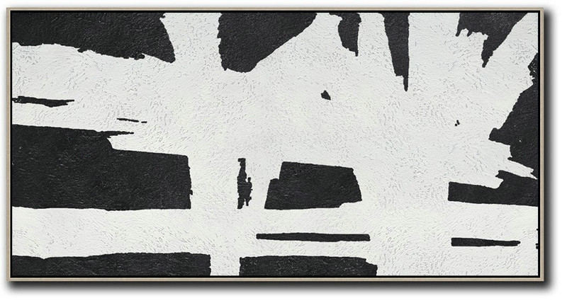 Oversized Panoramic Minimal Art On Canvas,Abstract Art Decor,Contemporary Painting #H8W4