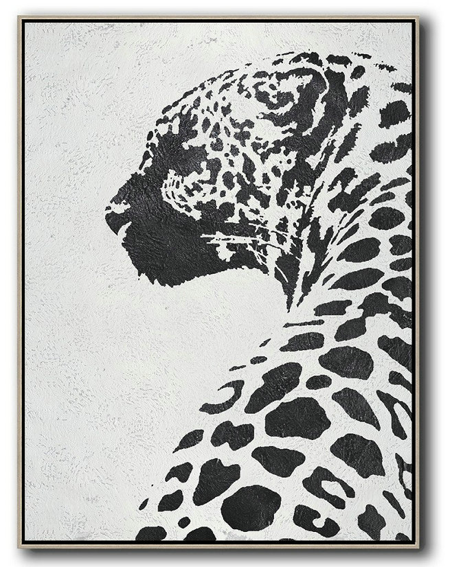 Black And White Minimal Painting On Canvas,Hand Painted Canvas Art #Z8L8