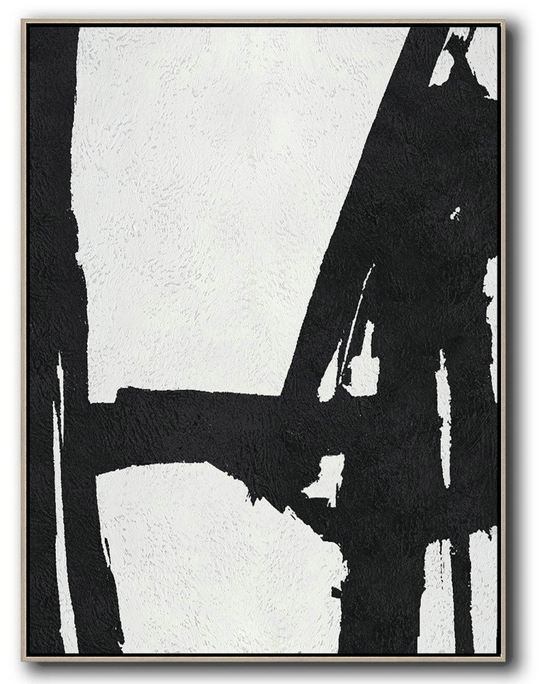 Black And White Minimal Painting On Canvas,Acrylic Painting On Canvas #Z8Z1