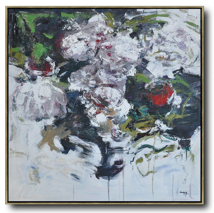 Abstract Flower Oil Painting Large Size Modern Wall Art,Abstract Paintings On Sale #J9N6