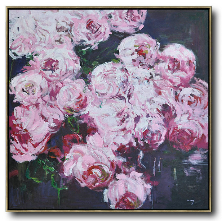 Abstract Flower Oil Painting Large Size Modern Wall Art,Contemporary Art Canvas Painting #K4S7