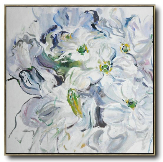 Abstract Flower Oil Painting Large Size Modern Wall Art,Large Canvas Art #G5C6