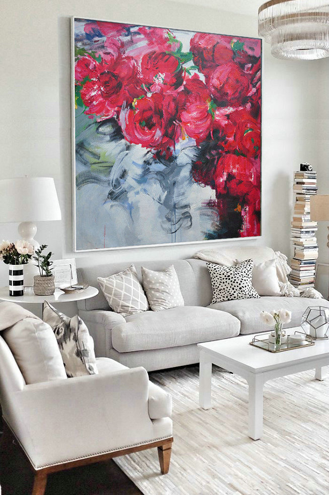 Abstract Flower Oil Painting Large Size Modern Wall Art,Abstract Painting On Canvas #K0F0