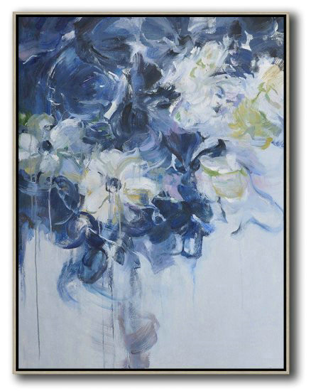 Hame Made Extra Large Vertical Abstract Flower Oil Painting,Huge Abstract Canvas Art #Y2X2